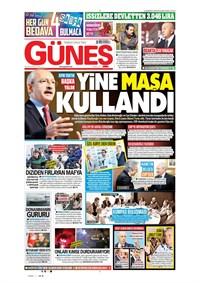 Güneş Gazetesi Manşeti