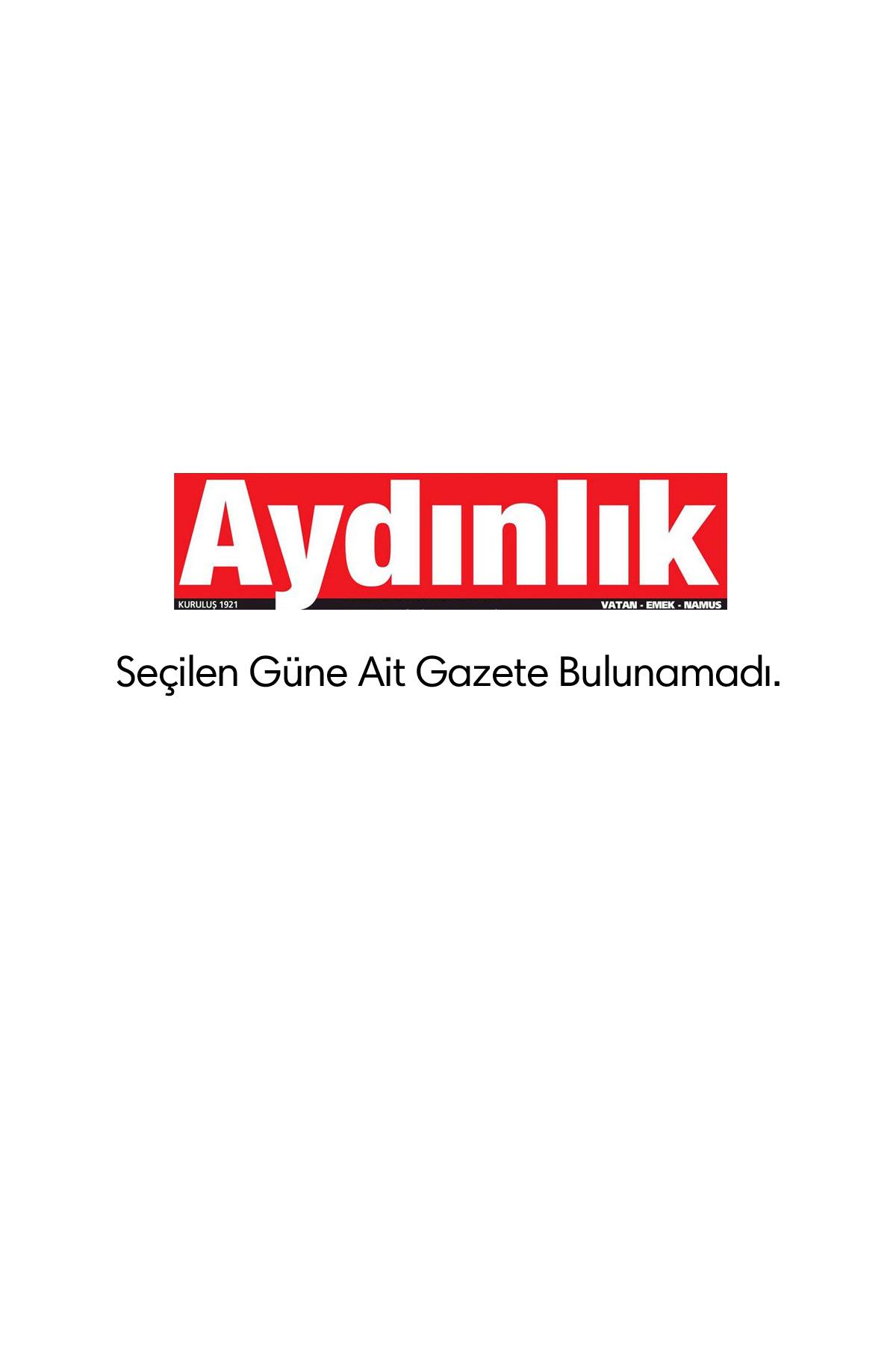Aydınlık Gazetesi Manşeti