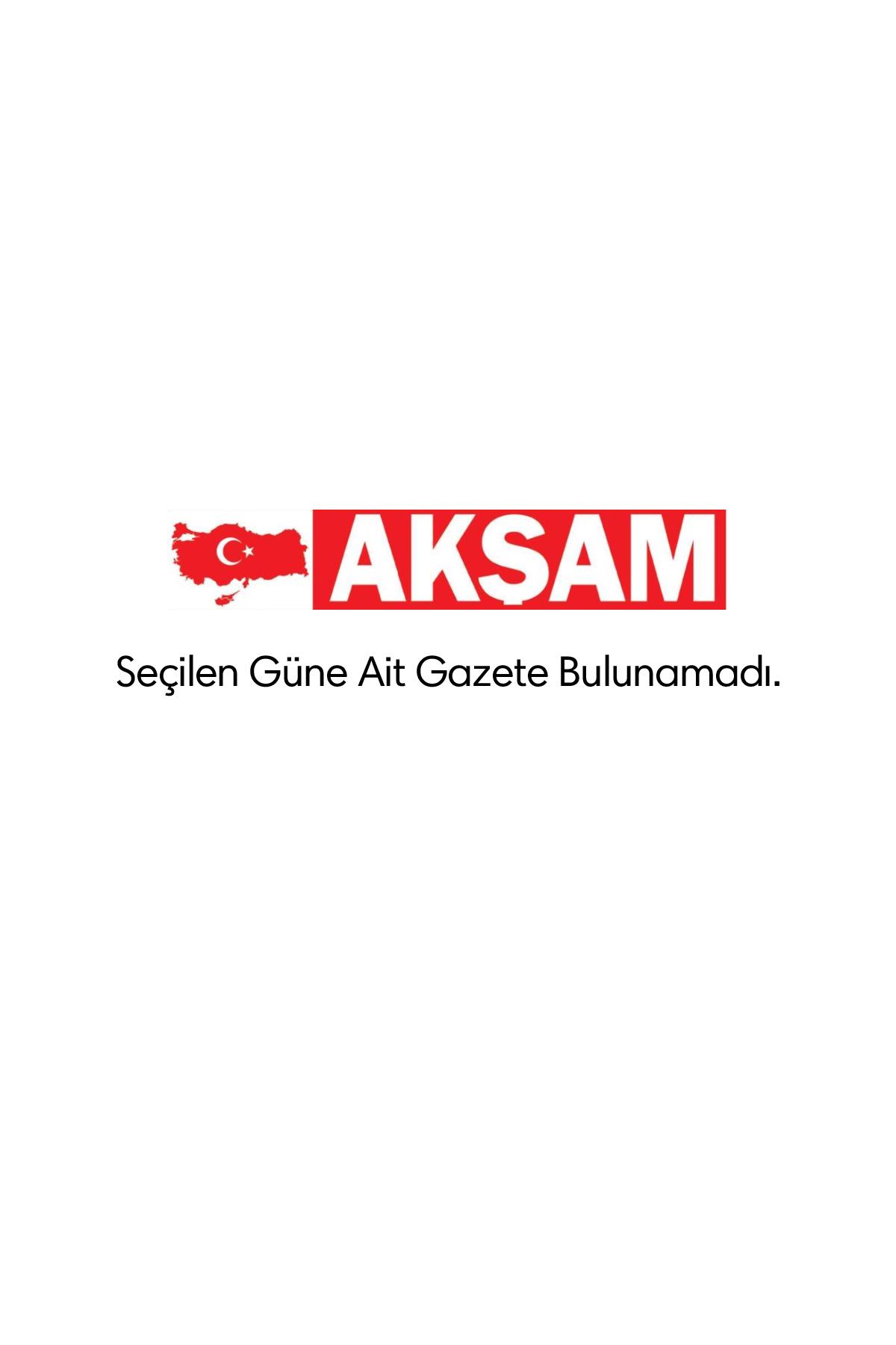 Akşam Gazetesi Manşeti