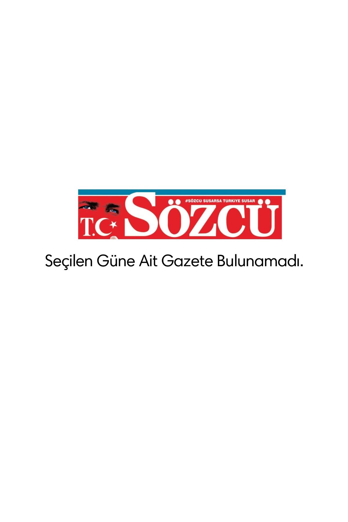 Sözcü Gazetesi Manşeti