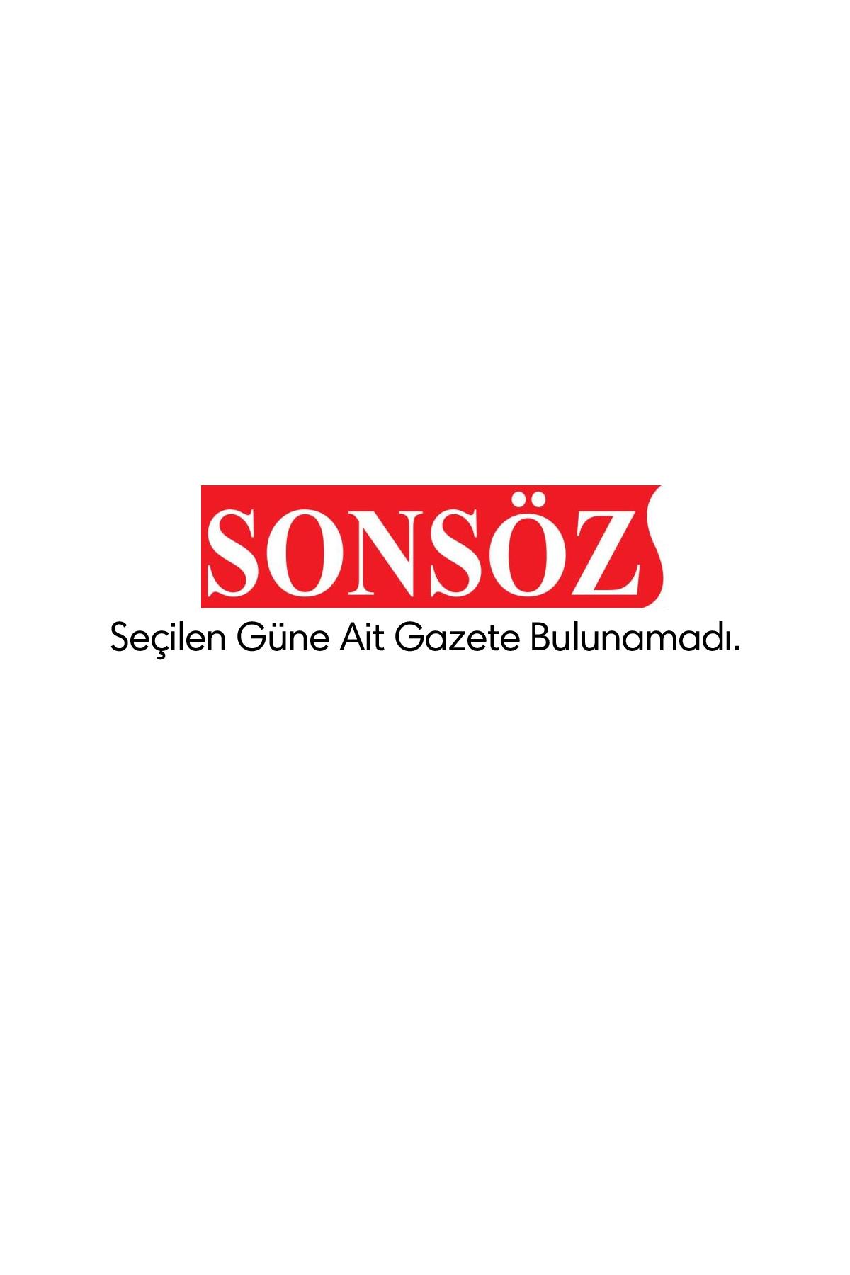 Son Söz Gazetesi Manşeti