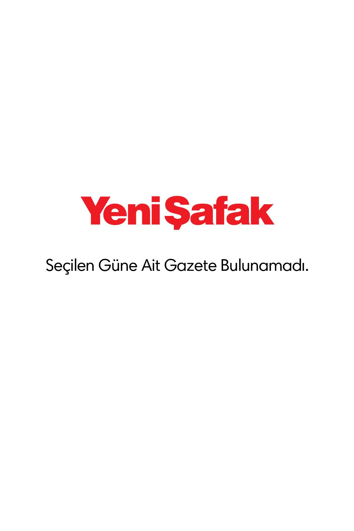 Yeni Şafak Gazetesi Manşeti