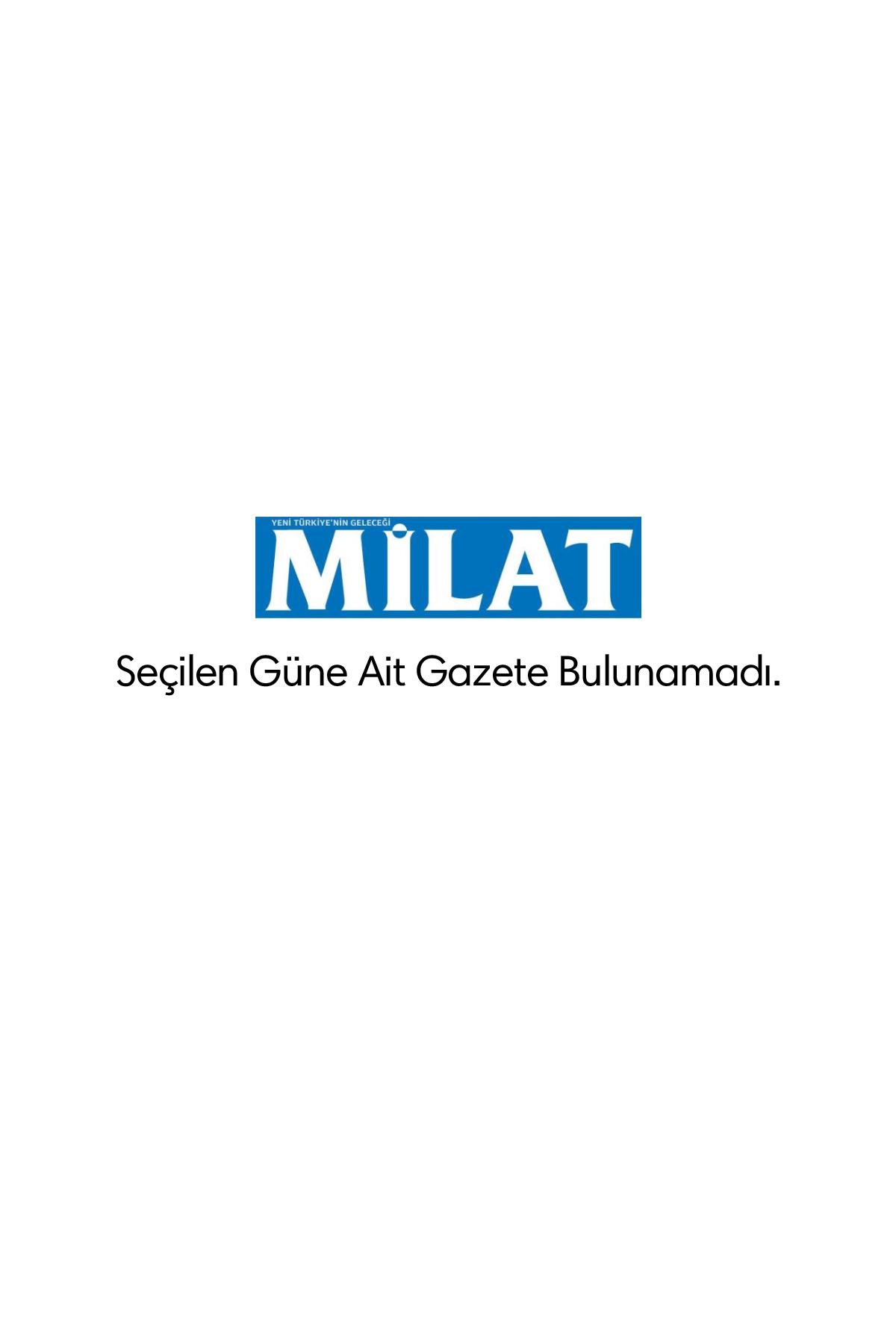 Milat Gazetesi Manşeti