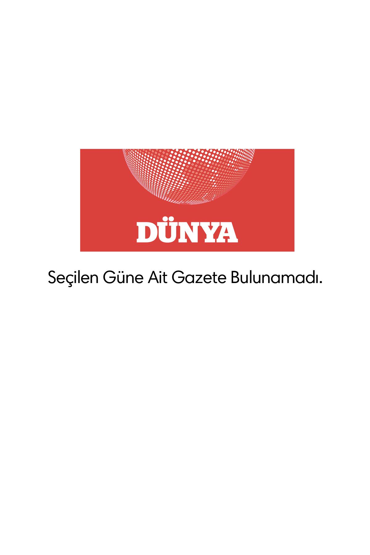 Dünya Gazetesi Manşeti