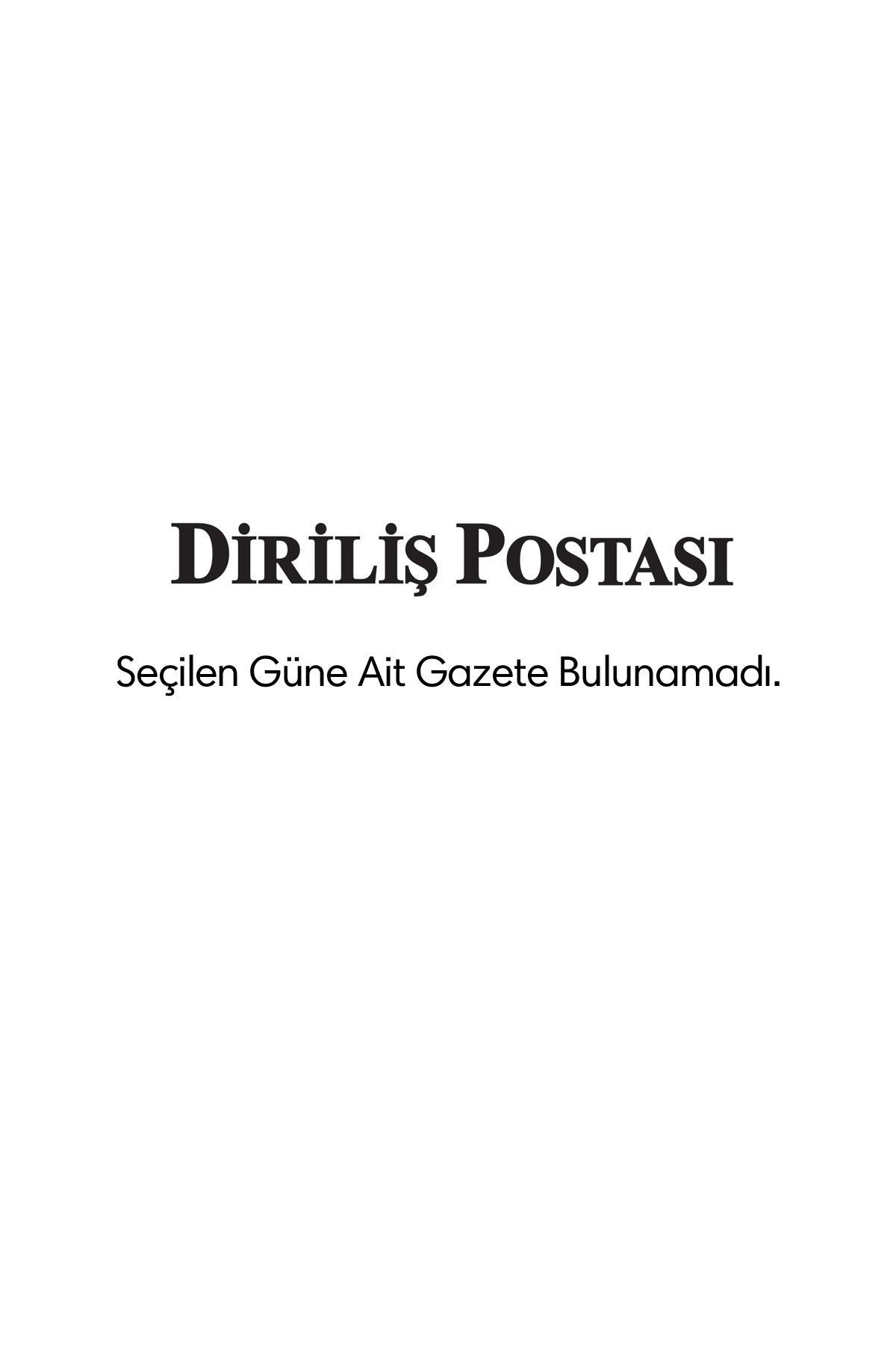 Diriliş Postası Gazetesi Manşeti