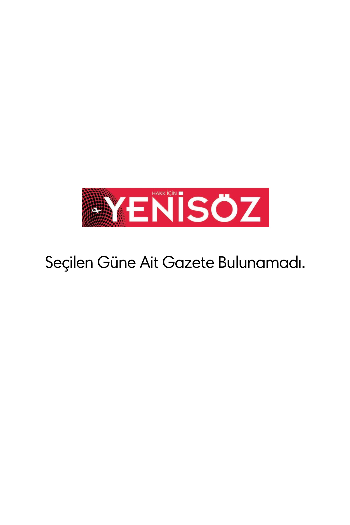 Yeni Söz Gazetesi Manşeti
