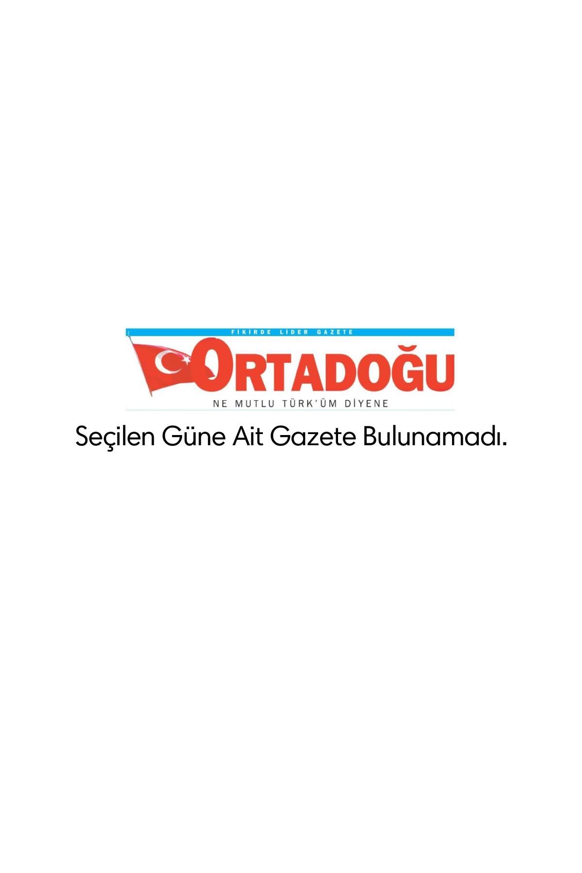 Ortadoğu Gazetesi Manşeti