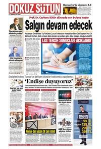 Dokuz Sütun Gazetesi Manşeti